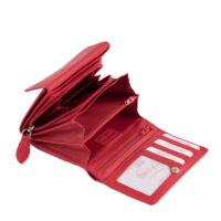 Fairy valódi bőr piros női pénztárca díszdobozban*