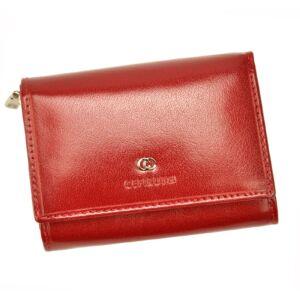 Cefirutti Valódi bőr Pénztárca női pénztárca piros színben RFID rendszerrel