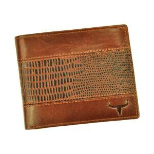 Wild Valódi bőr Pénztárca barna színben RFID védelemmel