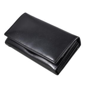 Bőr női pénztárca fekete színben 109115 Black