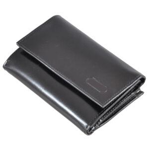 Keretes bőr női pénztárca fekete színben 4939 Black