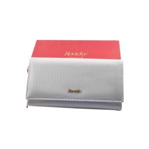 Rovicky lakk mintás bőr női pénztárca 8803 Silver