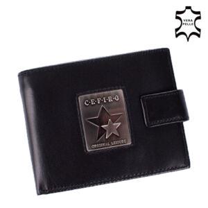 Cefiro Bőr Férfi pénztárca Fekete színben