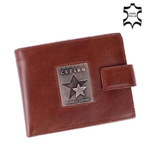 Cefiro Bőr Férfi pénztárca Barna színben