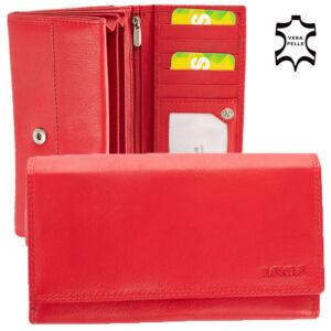 Bőr női pénztárca piros színben 4381 Red