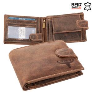 Buffalo Wild Valódi bőr Pénztárca RFID védelemmel