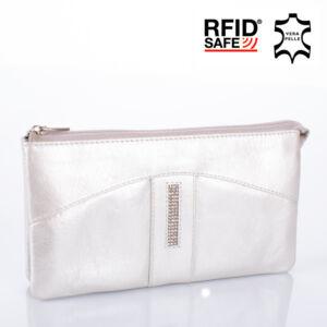 Fairy Crystal köves valódi bőr női pénztárca NP 130 Silver RFID védelemmel