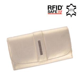 Fairy Crystal valódi bőr női pénztárca NP 789 Gold RFID védelemmel