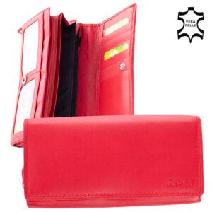 Piros bőr női pénztárca 32 Red