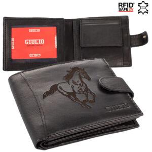 Lovas valódi bőr férfi pénztárca RFID rendszerrel