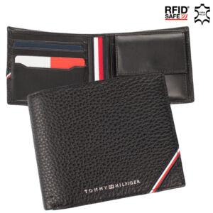 Tommy Hilfiger valódi bőr férfi pénztárca TOMMY HILFIGER AM0AM07821 RFID rendszerrel