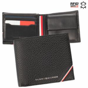 Tommy Hilfiger valódi bőr férfi pénztárca TOMMY HILFIGER AM0AM07819 RFID rendszerrel
