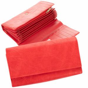 Piros színű brifkó pénztárca