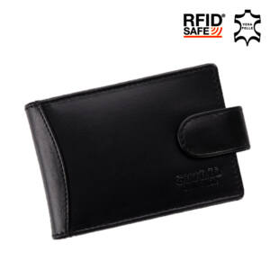 GIULIO COLLECTION valódi bőr kártyatartó RFID rendszerrel díszdobozban