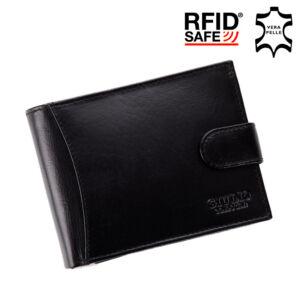 GIULIO valódi bőr férfi pénztárca díszdobozban RFID rendszerrel ( 8 kártyatartó )