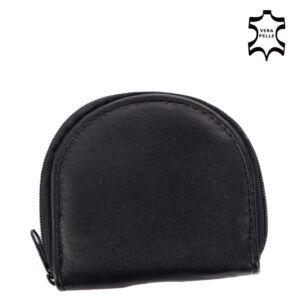 Valódi bőr patkó pénztárca fekete színben 1508 Black