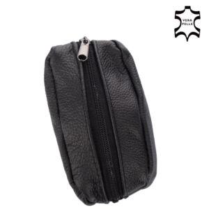 Valódi bőr kulcstartó fekete színben 1507 Black