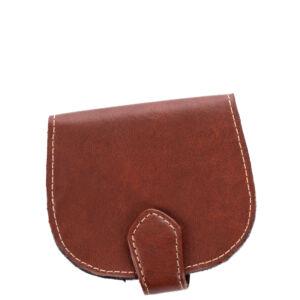 Patkó pénztárca barna színben