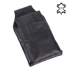 Pincér pénztárca és tartó fekete színben