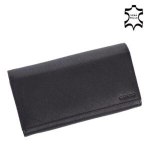 Valódi bőr brifkó pincér pénztárca fekete színben AM-03-183