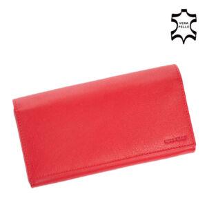 Valódi bőr brifkó pincér pénztárca piros színben AM-03-183