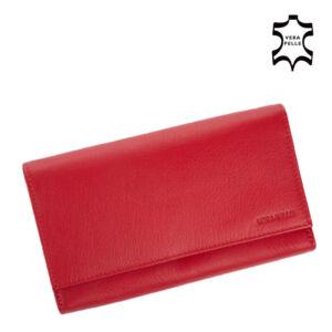 Valódi bőr brifkó pénztárca pincér pénztárca piros színben