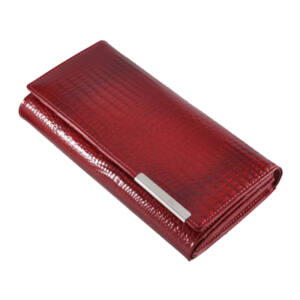 Különleges lakk bőr női pénztárca piros színben GF102 Red