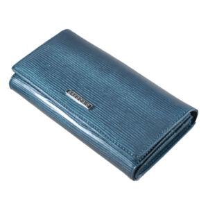 Gregorio lakk bőr női pénztárca LN102 Blue