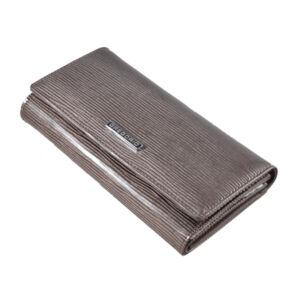Gregorio lakk bőr női pénztárca LN102 Grey