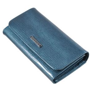 Gregorio lakk bőr női pénztárca LN110 Blue