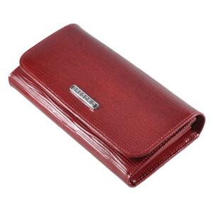 Gregorio lakk bőr női pénztárca piros színben LN110 Red