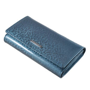 Gregorio lakk bőr női pénztárca PT102 Blue