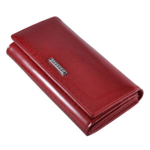 Gregorio lakk bőr női pénztárca piros színben PT102 Red