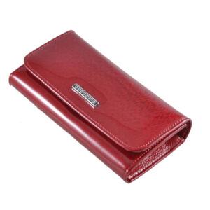 Gregorio lakk bőr női pénztárca piros színben PT110 Red
