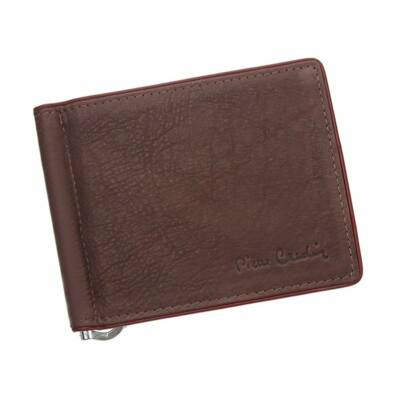 Pierre Cardin valódi bőr férfi dollár pénztárca díszdobozban.