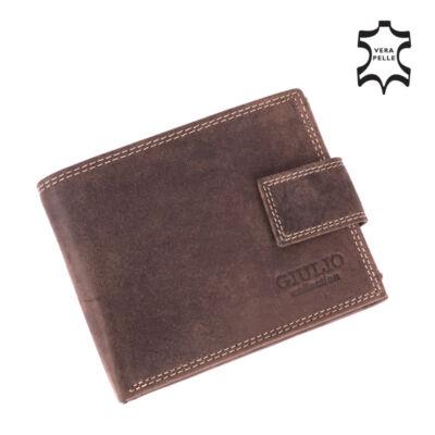 GIULIO valódi bőr férfi pénztárca díszdobozban*