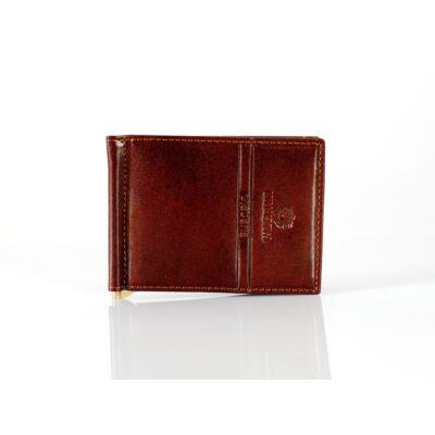 Emporio Valentini barna bőr dollár pénztárca*