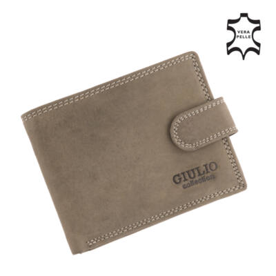 GIULIO valódi koptatott bőr férfi pénztárca díszdobozban*