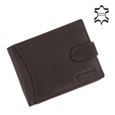 GIULIO valódi bőr férfi pénztárca díszdobozban ( 9 kártyatartó ),,