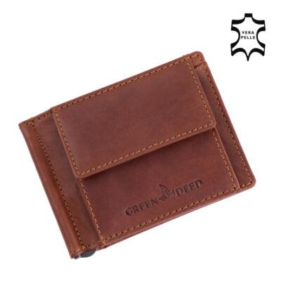 Green Deed valódi bőr férfi dollár pénztárca díszdobozban*