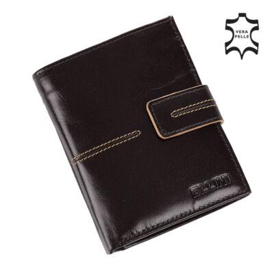 ELLINI valódi bőr férfi pénztárca díszdobozban RFID rendszerrel ( 8 kártyatartó )**