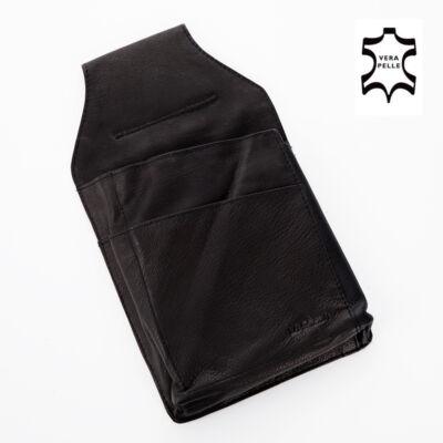 Valódi bőr pincér pénztárca tartó*