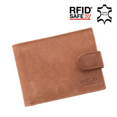 GIULIO valódi koptatott bőr férfi pénztárca díszdobozban RFID rendszerrel ( 8 kártyatartó ),,*