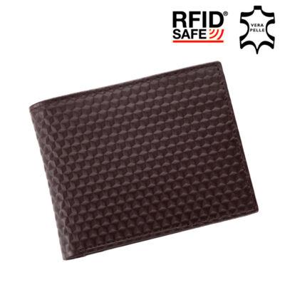 GIULIO valódi bőr férfi pénztárca díszdobozban RFID rendszerrel*