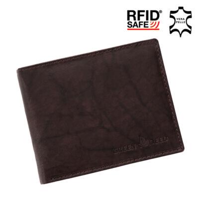 GREEN DEED valódi bőr férfi pénztárca díszdobozban RFID rendszerrel*