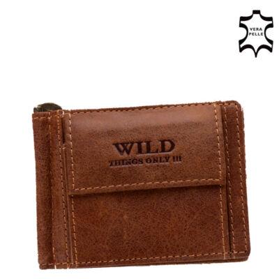 Wild valódi bőr férfi dollár pénztárca**