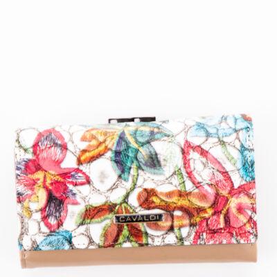 Cavaldi női virágmintás pénztárca PN23 1