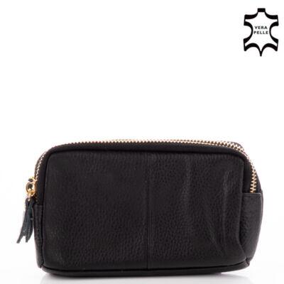 Valódi bőr női pénztárca 8099 Black
