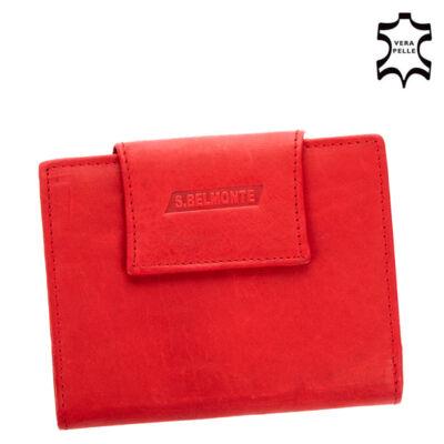 S.Belmonte valódi bőr női pénztárca MS11259 Red