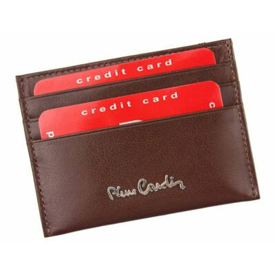 Pierre Cardin valódi bőr férfi kártyatartó díszdobozban*